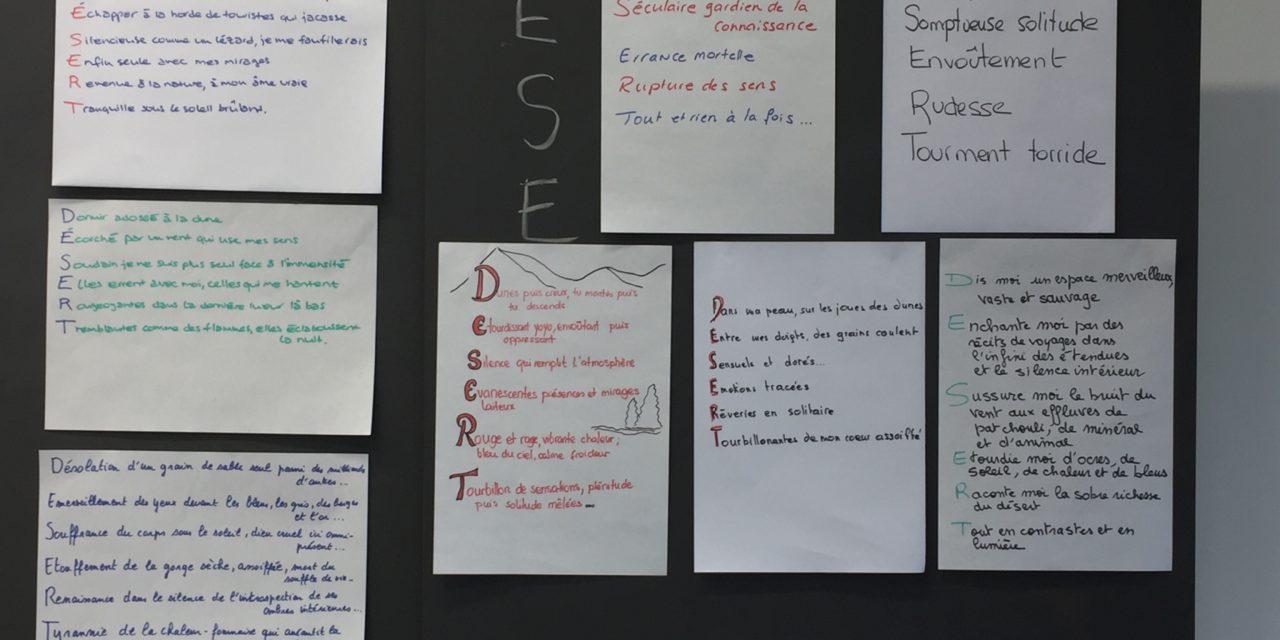 Les ateliers d'écriture de Sarah Renaud à Genève