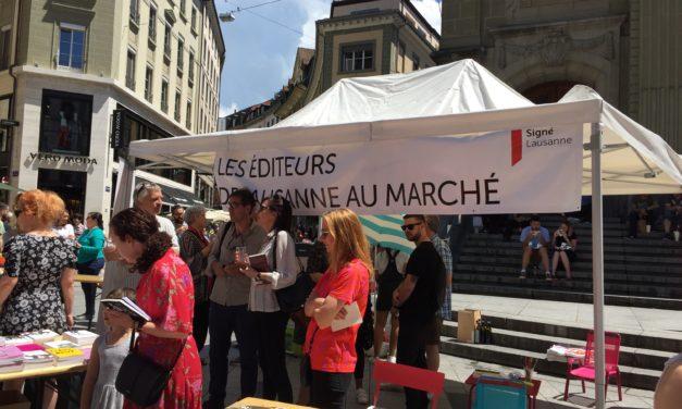 Les éditeurs de Lausanne et Olivia Gerig au marché